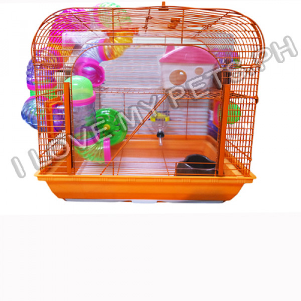 Bi Level Hamster Cage w/ Clear View Entr...