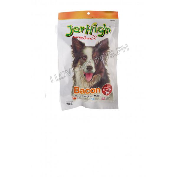 Jerhigh Dog Snack Bacon Flavor, 70 grams