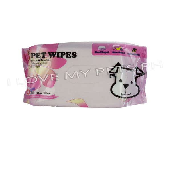 Hush Pet, Pet Wipes 80 pcs. (15cm x 20cm...