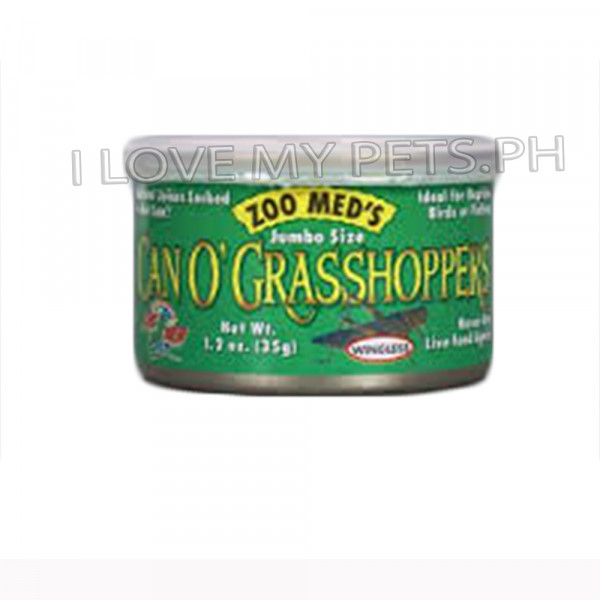Zoomed Can o grasshoppers 1.2 OZ