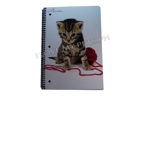 Cute and Cuddly Cat design Notebook, 60'...